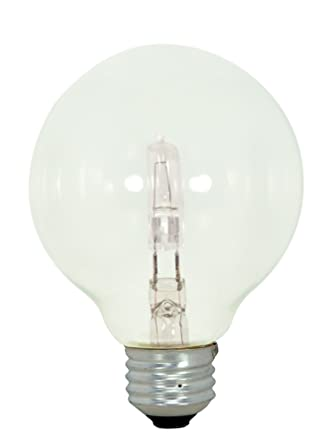 Satco 43g25cl120v Halogen Decorative 43w E26 G25 Clear Bulb