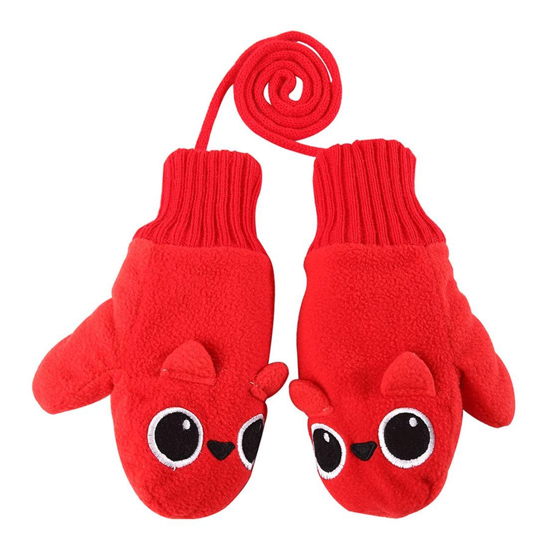 VIVO SUN Gants d Hiver pour Enfants Moufles Fille Garçon Bébé Gants Chauds  en Polaire 777c06cd2c28