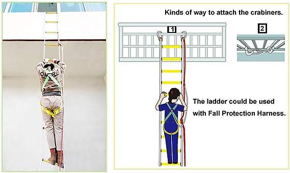 JFJL Escalera De Incendio Portátil - Escalera De Escape De Emergencia con Hoke, Rápida De Implementar Y Fácil De Usar - Compacta Y - Reutilizable - Capacidad De Peso De hasta 2500