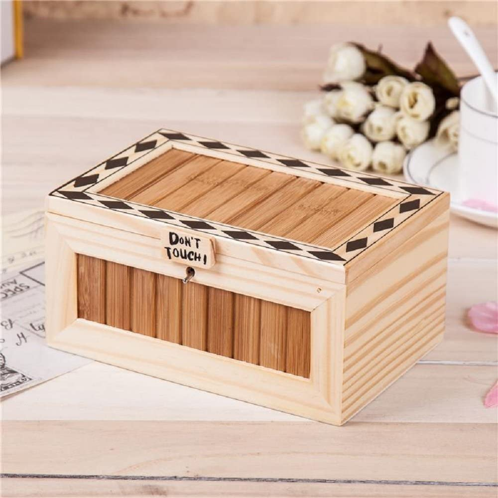 I Generation-Dry Battery Flever Fully Assembled Turns Itself Off Creative Box Leave Me Alone Machine Box with Real Wood for Cute Tiger Surprise