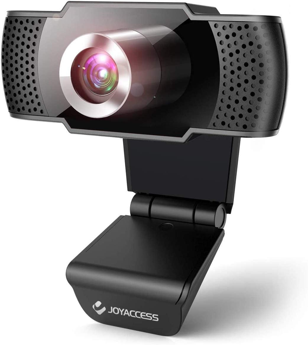 Webcam con microfono para pc, Web cámara 1080p Full HD con micrófono reducción de Ruido, Vista Gran Angular de 105º para Streaming, conferencias en Zoom, Youtube, Skype, Compatible con Windows, Mac