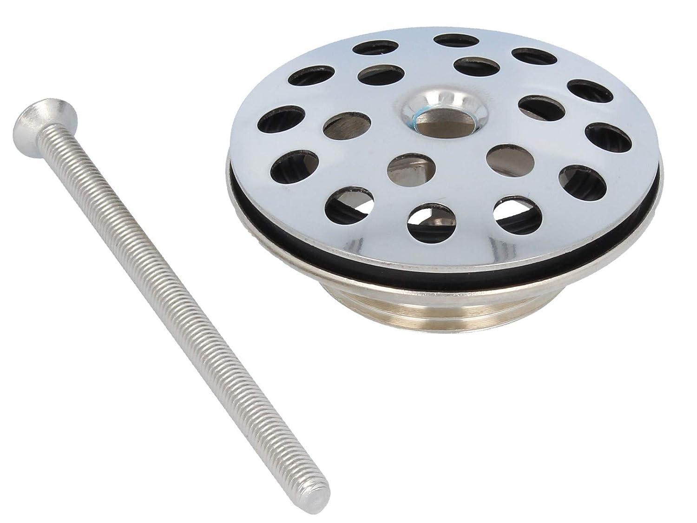 1 1//4 Zoll Univentil Ablaufsieb mit Ø 63 mm Siebplatte Edelstahl poliert