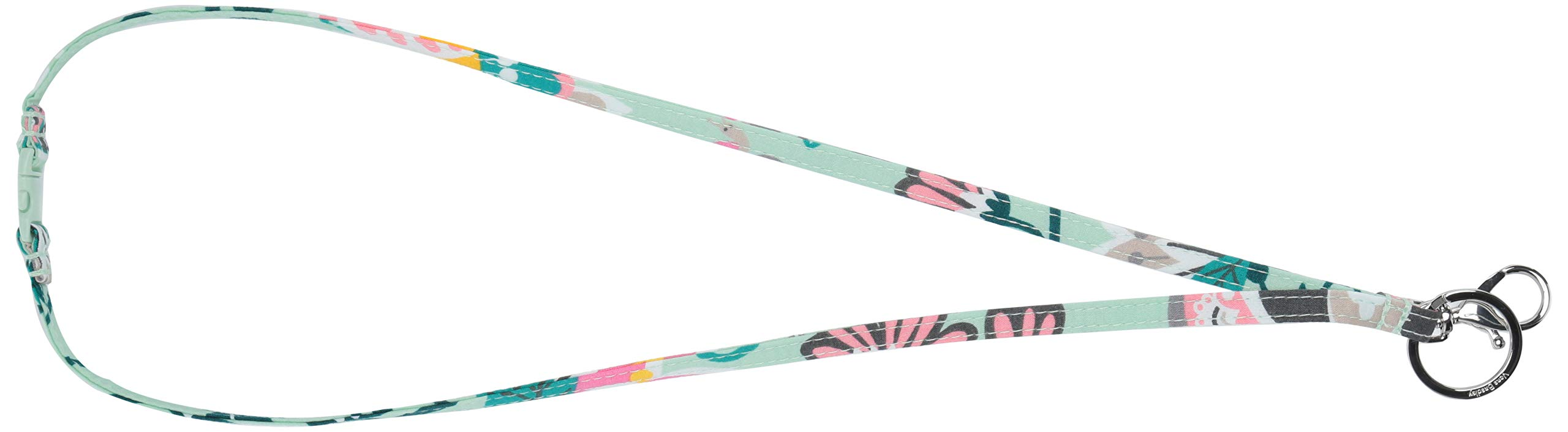 Vera Bradley Iconic Breakaway Lanyard, Signature Cotton, Mint Flowers