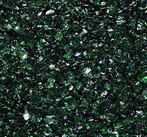 Safe & Non-Toxic {Various Sizes} 3 Pound Bag of Clear Gravel & Pebbles Decor Made of Genuine Glass for Freshwater & Saltwater Aquarium w/ Dark Jewel Toned Current Edgy Modern - Glasses Style Current