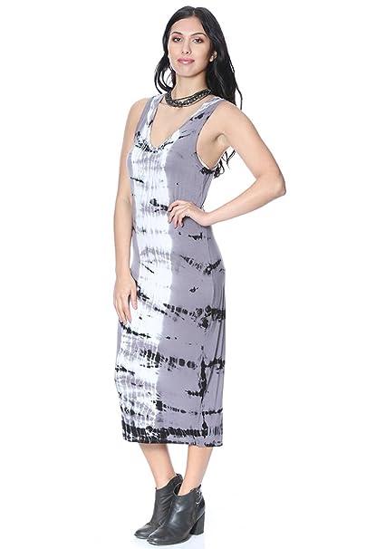 Midi Tank Dress Grey