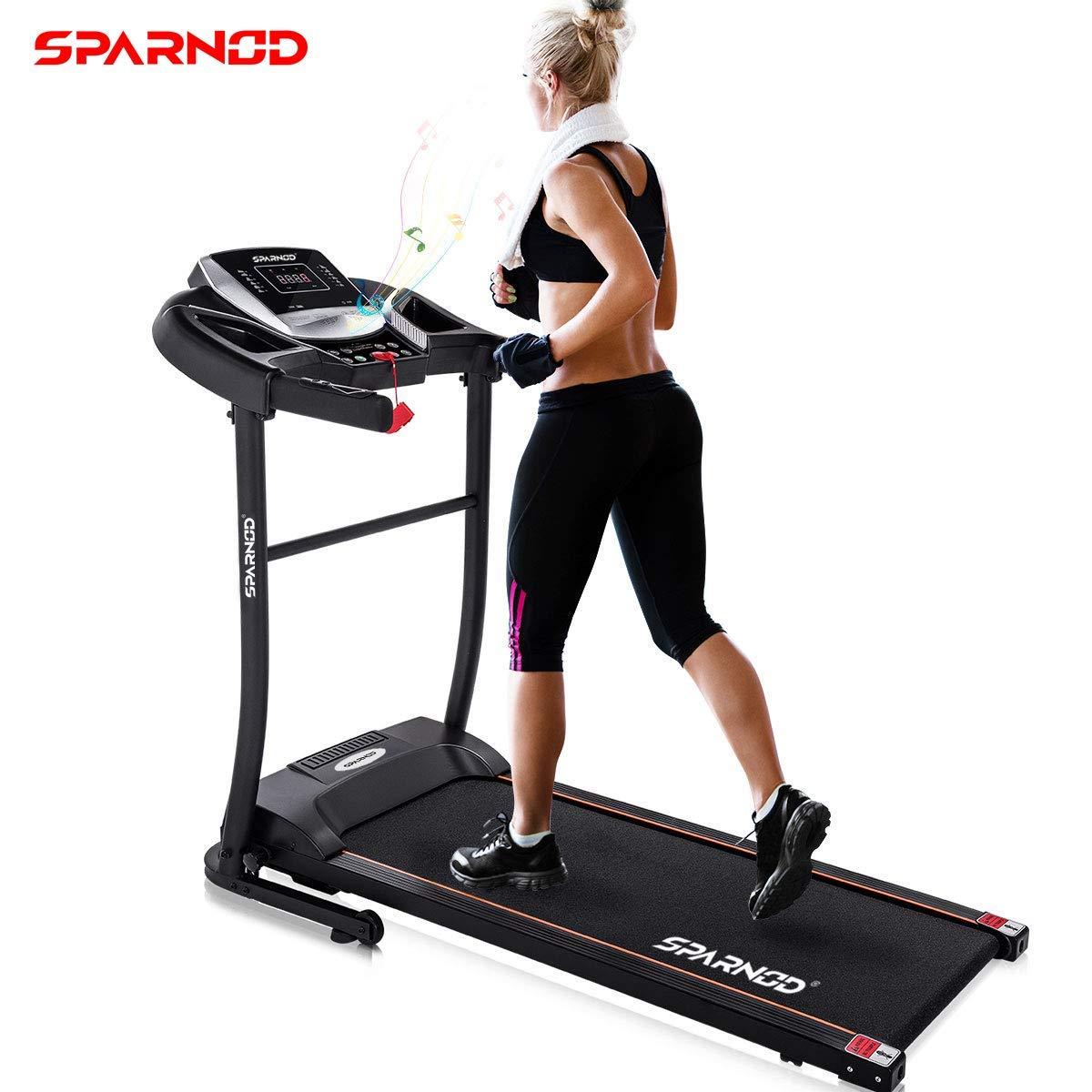 Sparnod Fitness (3 HP Peak) Automatic Treadmill