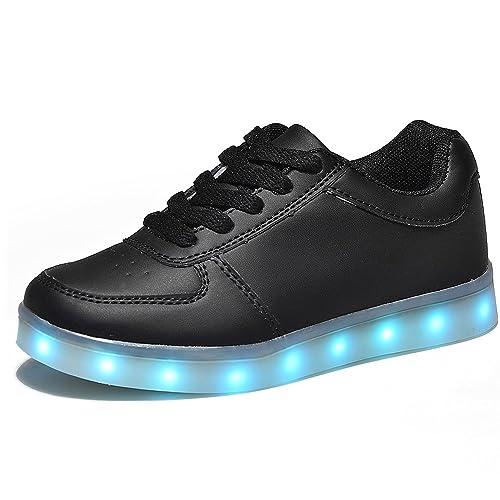 Kinder Sportschuhe Jungen Unisex Mädchen Schuhe HUSK'SWARE mit LED USB Sneakers E2H9WDI