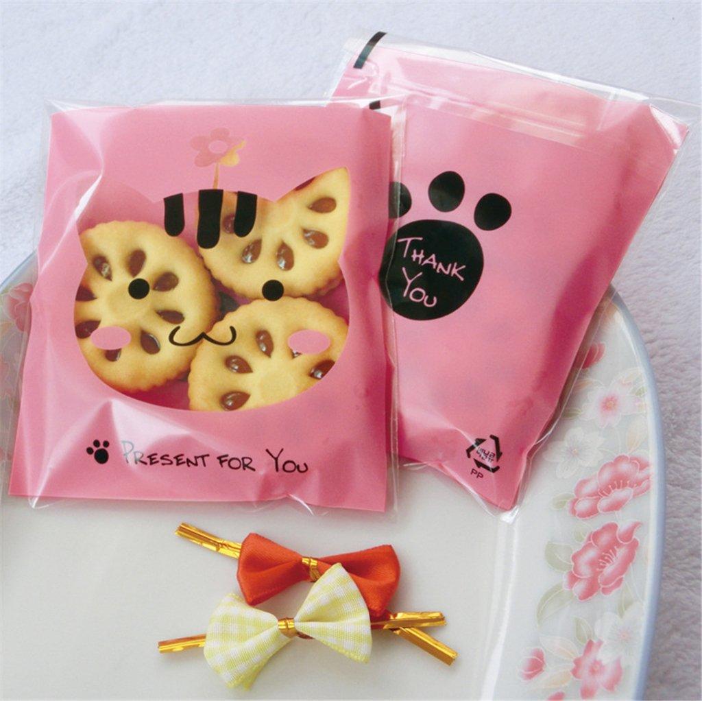 Amazon.com: Yunko 300pcs Lovely Animals Puppy Cat & Bear Paw Self ...