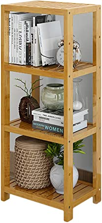 DULPLAY Bambú 2-5 Nivel Biblioteca, Madera sólida Librería anaquel Multi-Capa Estantería Estrecha Estante del almacenaje Organizador para hogar u Oficina Cocina-B 42x29x100cm(17x11x39): Amazon.es: Hogar