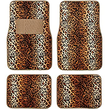 Amazon Com Cheetah Animal Print Auto Floor Mat 4 Pcs