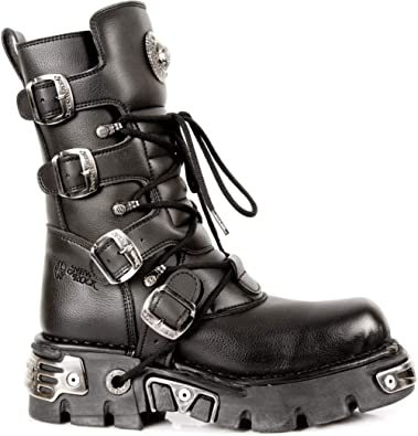 Unisex New Rock Newrock NR M.373 S1 Black Boots