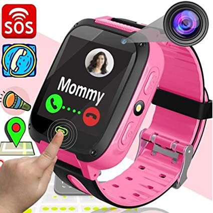 Hello22 Kids GPS Smartwatch, 1.44 inch Touch Anti-Lost Smart Watch for Children Girls Boys with Camera SIM Calls SOS Smartwatch Bracelet