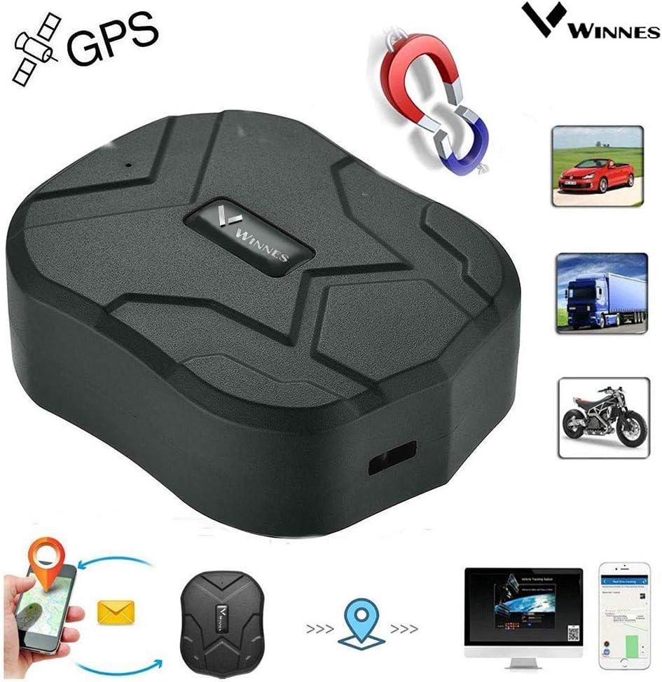 Winnes GPS Localizador Auto Camión Vehículo Tiempo Real de Seguimiento GPS Locator 150 Días Largo inactivo con antirrobo magnético Fuerte GPS Localizador Global 10000mAh TK905b