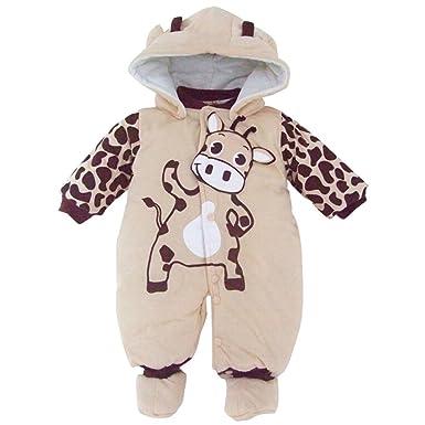 4de83cb96 Amazon.com  Newborn Baby Girls Boys Animal Style Rompers Fall Winter ...