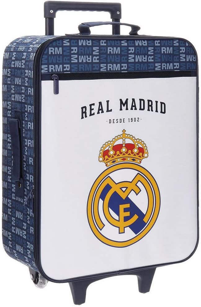 Real Madrid Basic Equipaje Infantil, 52 cm, 26 litros, Multicolor