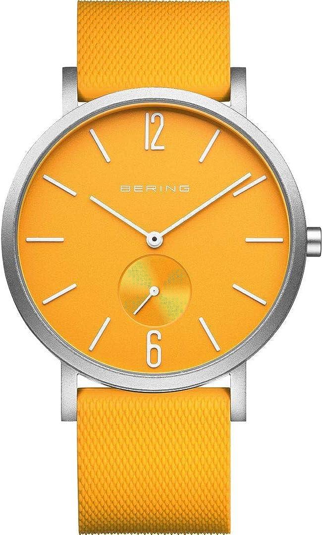 Bering 16940-609 - Reloj de pulsera analógico de cuarzo con correa de silicona