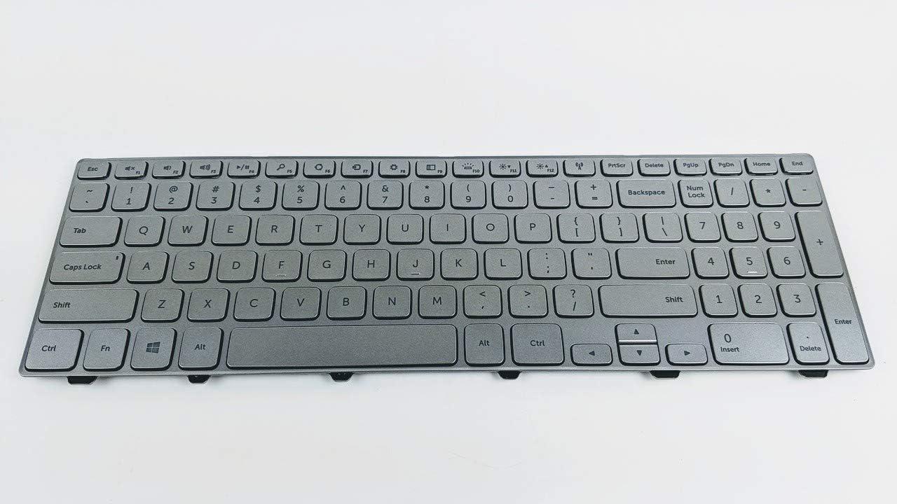 Dell Inspiron 15 7537 Backlit Silver Keyboard Assembly KK7X9 0KK7X9 MP-13B2