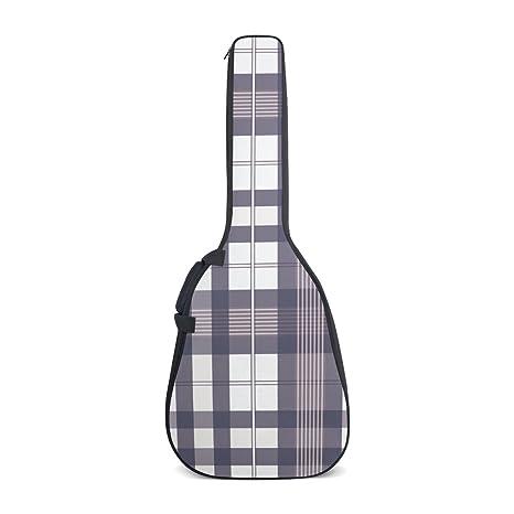 DEYYA - Bolsas para guitarra eléctrica, diseño de rayas, color morado con correas ajustables