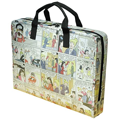 LAPTOP briefcase made from Archie comics, FREE SHIPPING, Padded computer work office bag vintage nostalgic upcycled upcycling different person vegetarians products people enthusiasts enthusiast by Upcycling by Milo