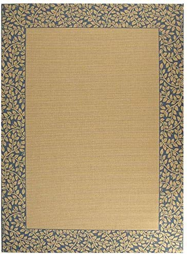 Safavieh Courtyard Collection CY0727-3101 Natural and Blue Indoor Outdoor Area Rug 9 x 12