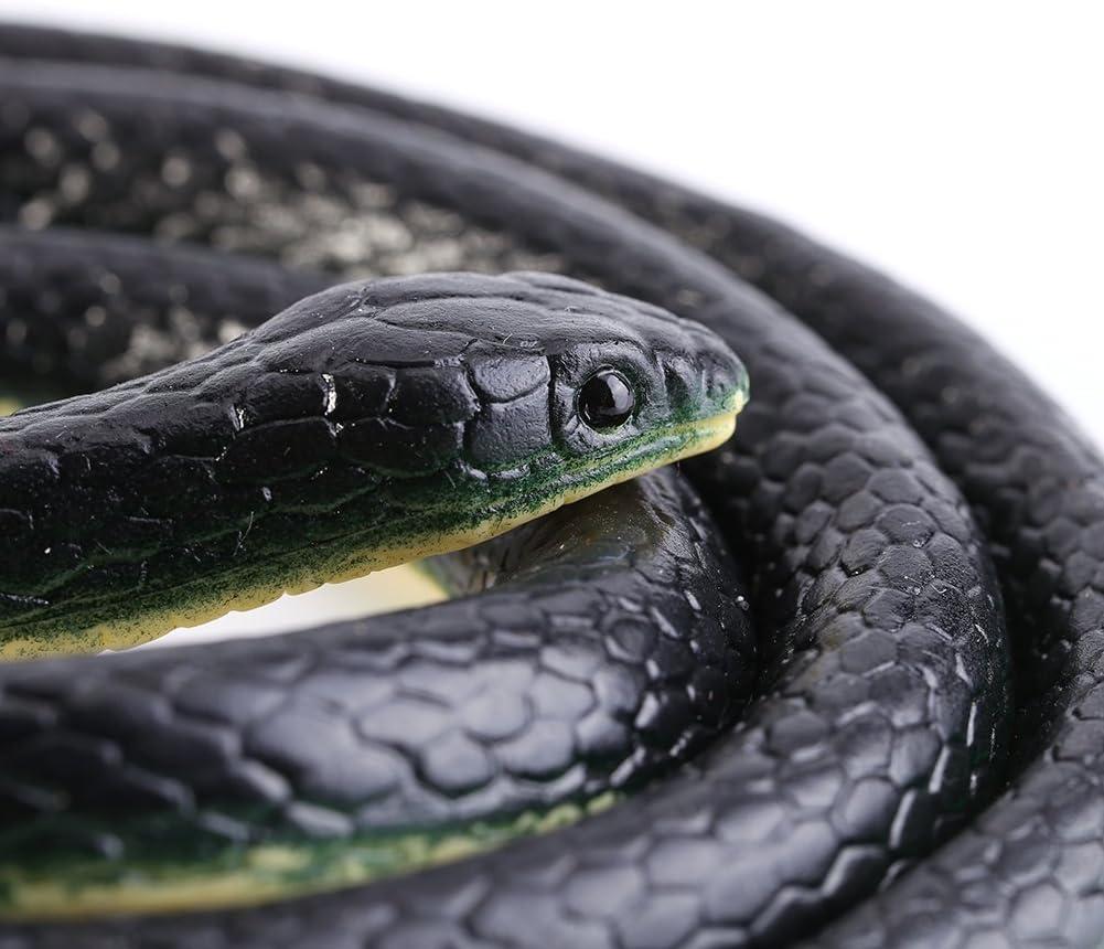 Simulazione Modello Realistico del Serpente Giocattoli Animali in Gomma Morbida Divertenti Scherzi Scherzo Regalo per Bambini Adulto Giocattolo Serpente Lungo 130 cm
