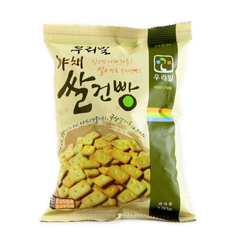Dure Korean Vegetable and Rice Biscuits 120G x 2 by Dure
