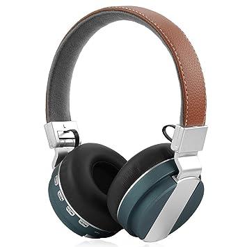 Geekria E05 plegable Over-Ear Auriculares inalámbricos con micrófono integrado, ranura para tarjeta Micro