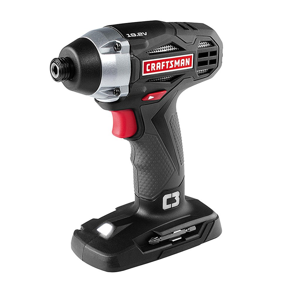 Craftsman C3 19.2 Volt 1 4 Inch Impact Driver Model 5727.1 Newest Version Bare Tool, No Battery or Charger Included