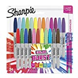 Sharpie 1949557  Color Burst Permanent Markers, Fine Point, Assorted Colors, 24-Count