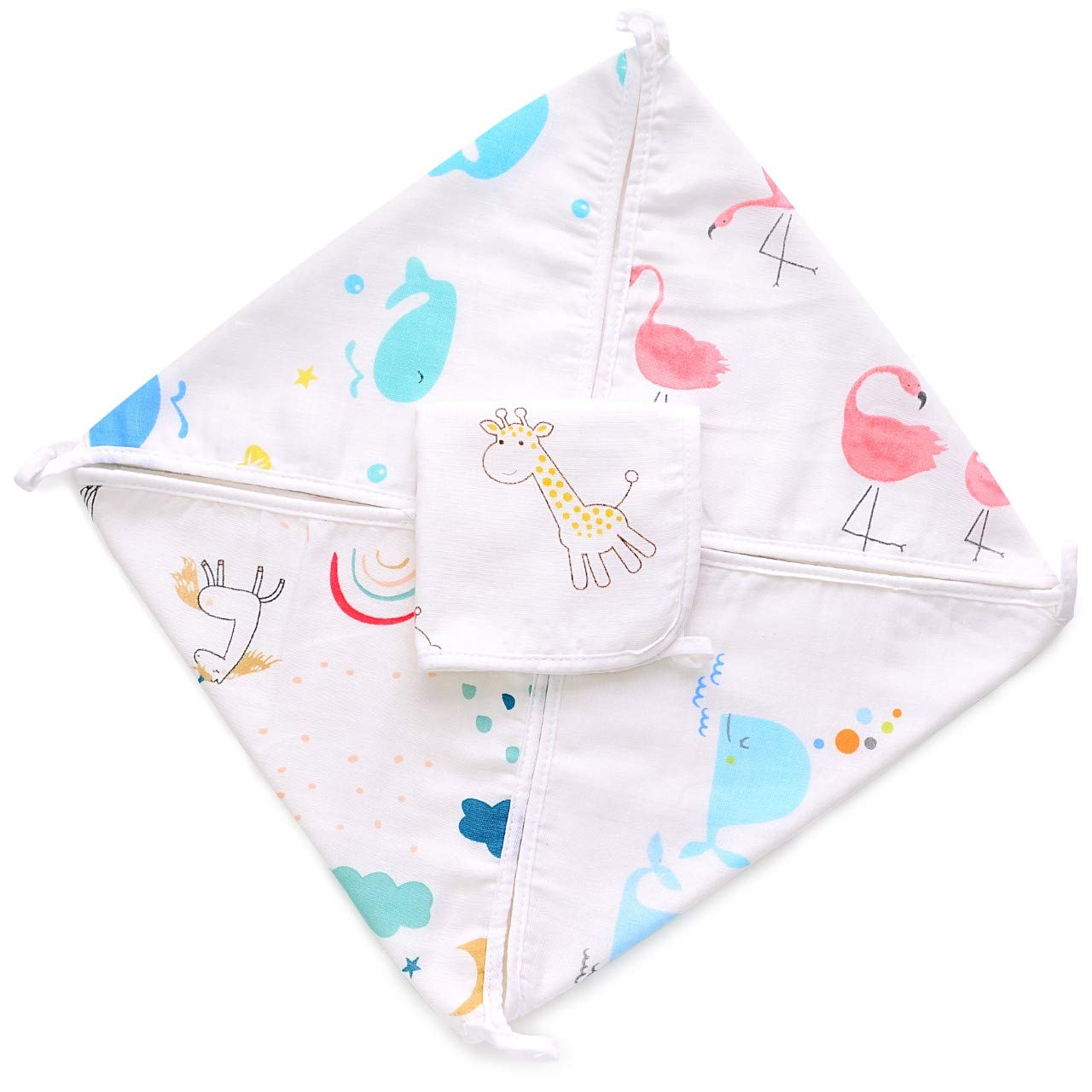 Amazon Com Baby Washcloths 5 Pack Ultra Soft Absorbent Natural Bamboo Cotton Washcloths Dual Texture Hypoallergenic For Sensitive Skin Newborn Bath Face Towel Unicorn Baby