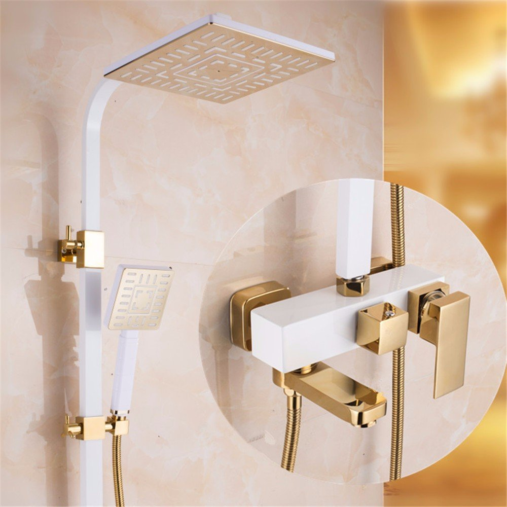 European Style Bathroom Shower Set All Copper Shower Hot And Cold Tap Showerc
