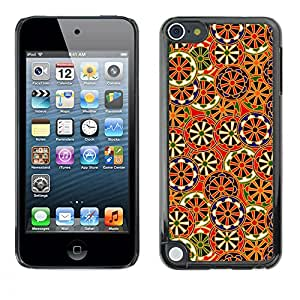 MOBMART Carcasa Funda Case Cover Armor Shell PARA Apple iPod Touch 5 - Brown Wheels Of Steel