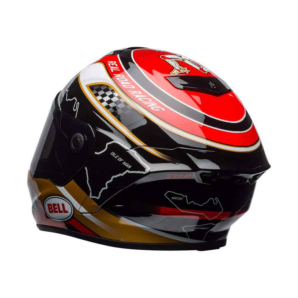 Talla S BELL 7092104 Star Mips/ Isle Of Man Casco Negro//Gold