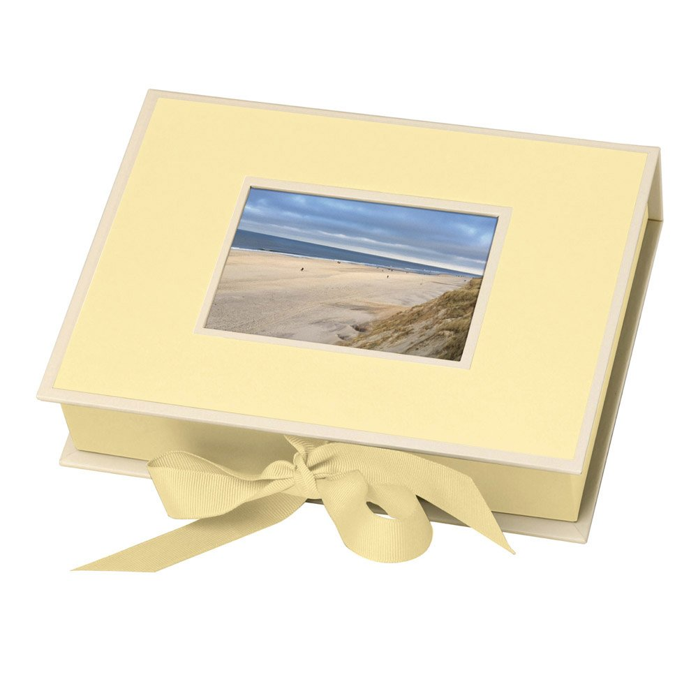 Semikolon Small Photo Box, Ribbon Tie Closure, Chamois (31517)