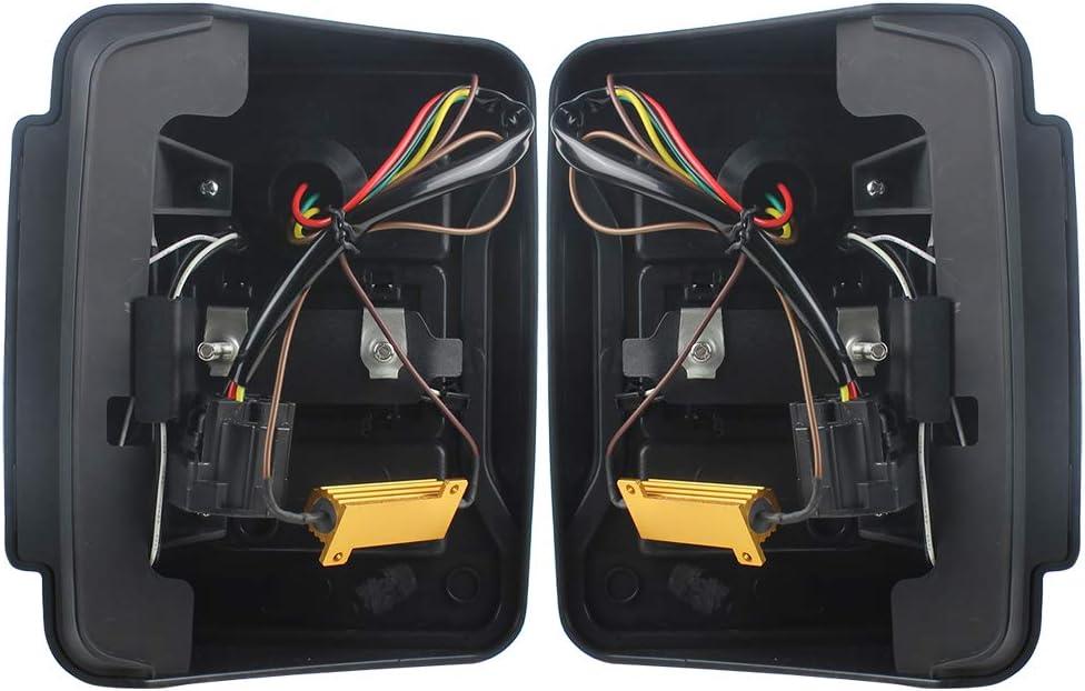Red Akmties DOT Approved JK tail lights Rear Lamps Brake Reverse light Daytime Running Lights Fit For Jeep Wrangler JK JUK 2007-2018