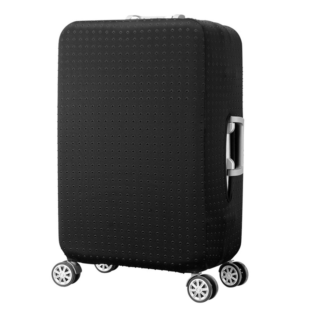 Water Resistant Print Trolley Case Protective Cover For 26/27/28 Luggage Dust Cover Washable Travel Suitcase Protector L Black