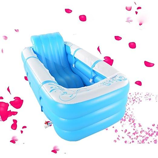 CIGONG Bañera Hinchable Plegable bañera para Adultos bañera Gruesa ...