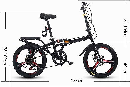Bicicleta De MontañA Compacta Y Plegable, Bicicleta Plegable con 6 ...