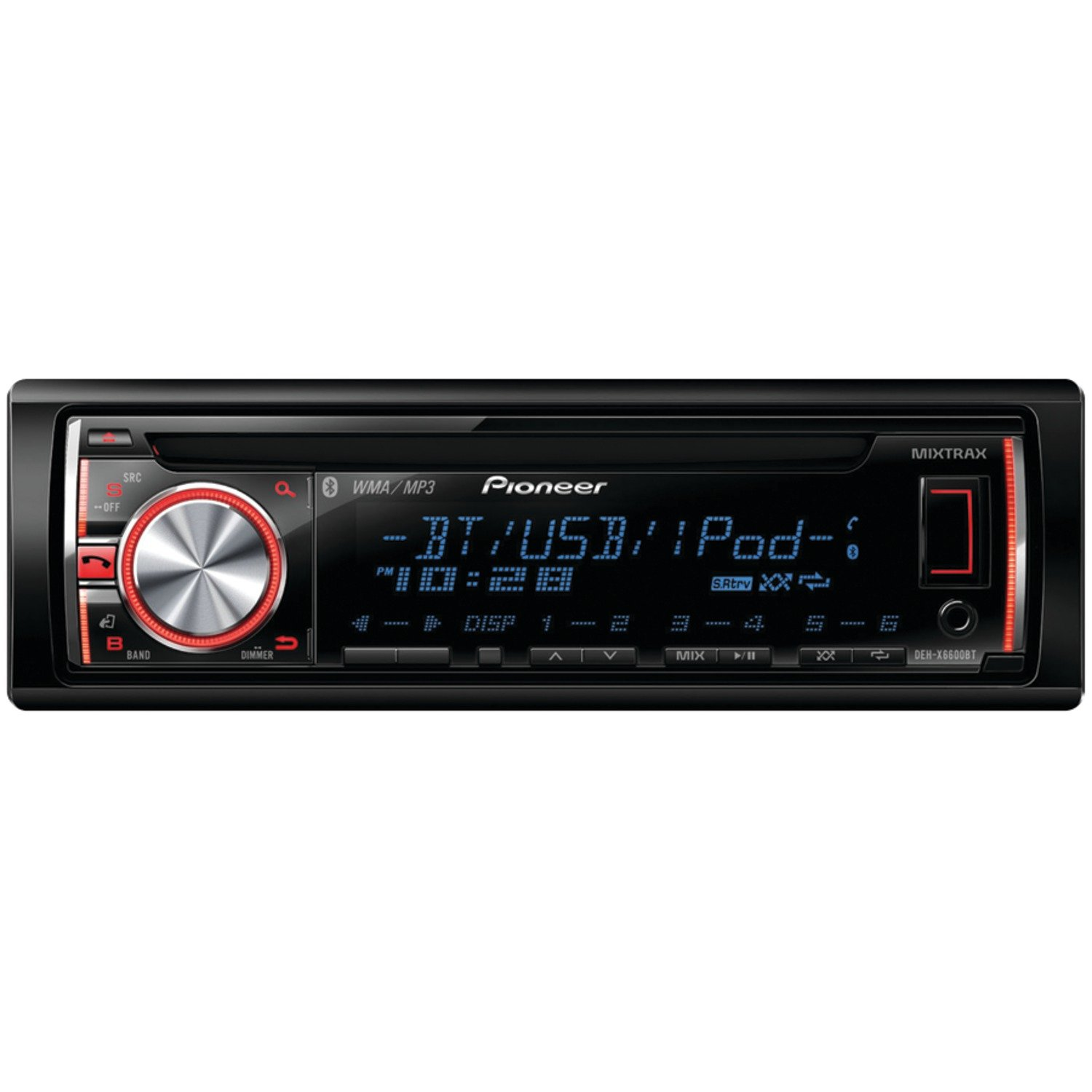 best bluetooth car stereo Pioneer deh-x6600bt