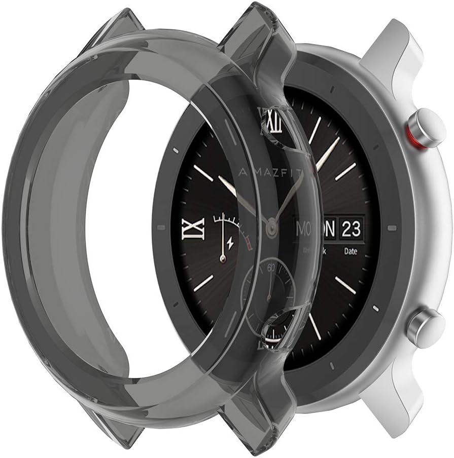 Tencirud - Fundas compatibles con Amazfit GTR de 47 mm, 42 mm, funda protectora de TPU suave, accesorios para reloj inteligente Amazfit GTR 42 mm 47 mm