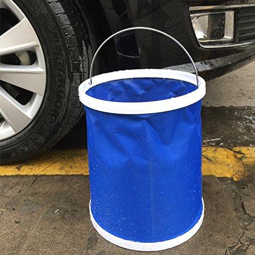 iokone Car Wash Bucket recipiente de agua compacto cubeta plegable portátil plegable ligero y duradero...