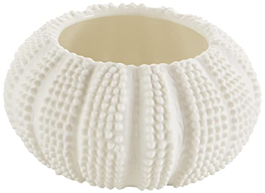 White Faux Sea Urchin Tealight Holders - Set of 2