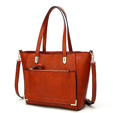 Mn Sue Fashion Designer Satchel Purses and Handbags for Women Shoulder Bags  Tote Urban Style (Brown 2c2c904859191