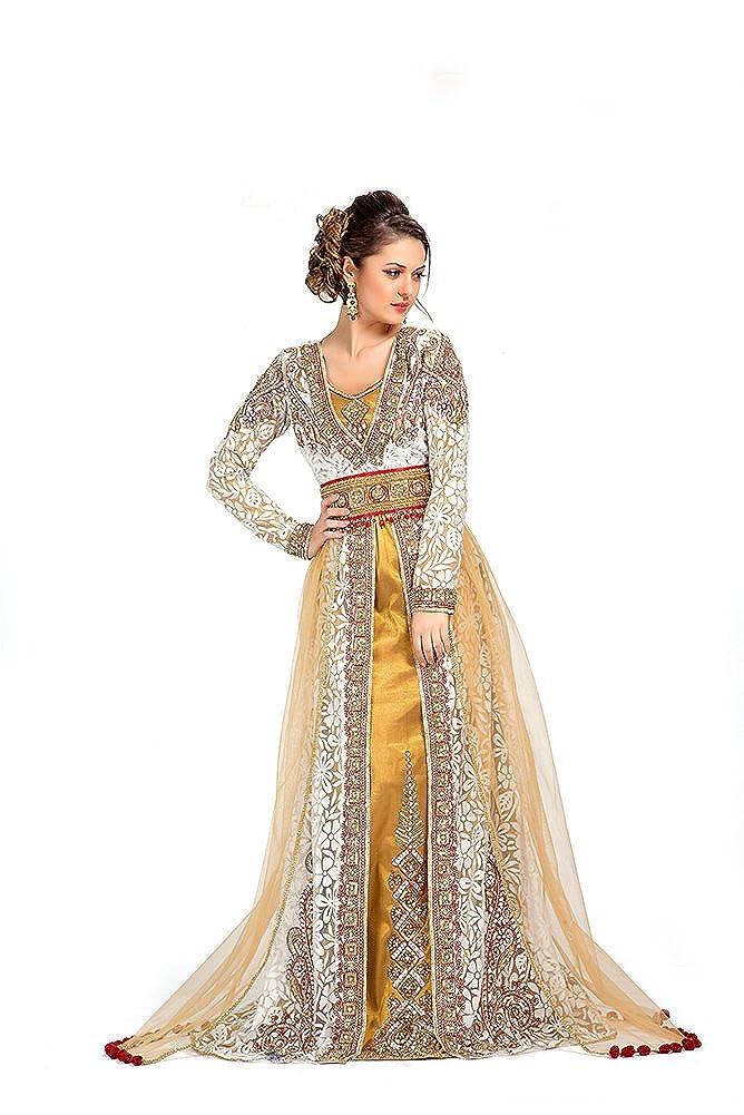 PalasFashion caftanes bordado de mundial de sudadera con capucha para mujer de boda de repujada de estilo marroquí KKPF1064: Amazon.es: Ropa y accesorios