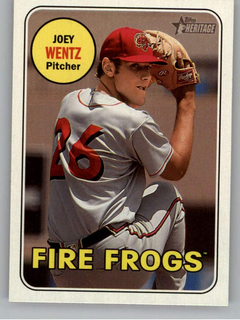 2018 Topps Heritage Minor League Baseball #133 Cristian Pache Florida Fire Frogs Official MILB Trading Card