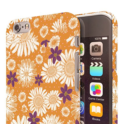 Koveru Back Cover Case for Apple iPhone 6 - Yellow Twinkle Flowers