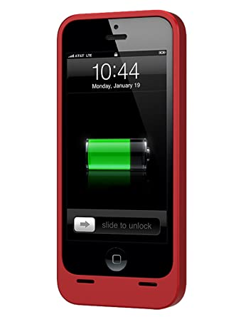 hot sale online 1212d 005e4 Unu DX-05-2300R DX Protective iPhone 5 Battery Case-Retail Packaging-Red