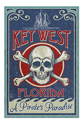 Key West, Florida - Skull and Crossbones (20x30 Premium 1000 Piece Jigsaw Puzzle, Made in USA!) ()