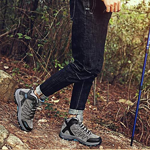 Outdoor BOLOG Outdoor Bequem Trekking Leicht Rutsch Damen Grau Anti Wandern Wanderstiefel und Sportlich Herren Wanderschuhe 2 qITSIrw