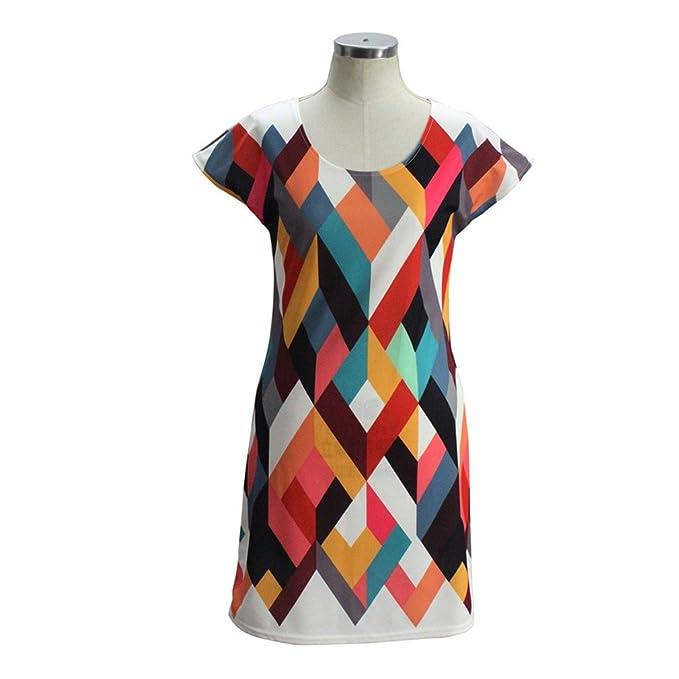 7b042c023ae ISHILA Casual Women Summer Mini Dress Polyester O-Neck Short Sleeve Office  Dresses as Show